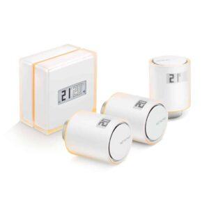 Netatmo Slimme Thermostaat + 3 radiatorknoppen